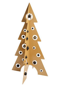 ARTS ET PLAISIRS - sapin de noël design 'chic - h : 140 cm - or - Artificial Christmas Tree