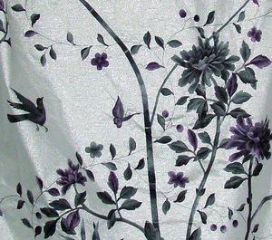 Fromental - embroidered chinoiserie - Upholstery Fabric