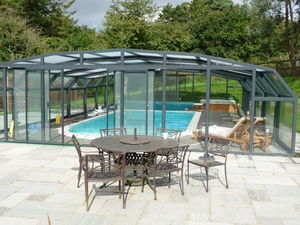 Telescopic Pool Enclosures - diabolo - Freestanding Pool Enclosure