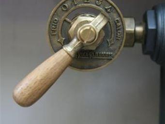 Antiek-Bouw - avec manette en bois - Radiator Tap