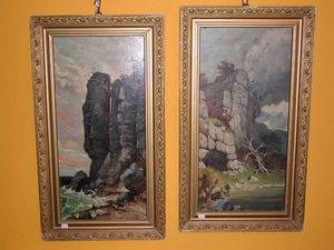 LA CONGREGA ANTICHITA' - coppia paesaggi inglesi - Reproduction Of Hand Painted Fine Art