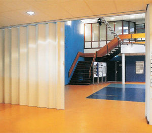 Avon Partitioning Services - concertina folding partition - Mobile Partition
