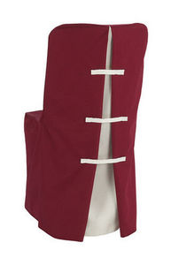 Speciality Group - burgundy art collection in a solid colour fabric c - Loose Chair Cover