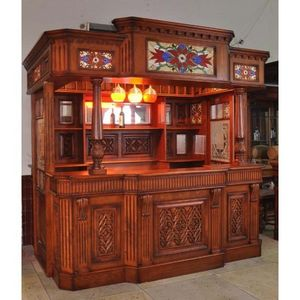 Worldwide Reproductions - large home bar with doors - Bar Counter