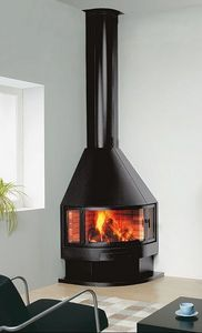 ROCAL -  - Corner Fireplace With Door