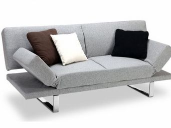 Miliboo - canapé convertible design gris atlanta - Sofa Bed