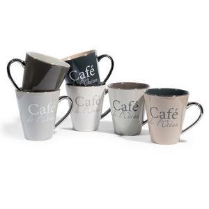 MAISONS DU MONDE - assortiment de 6 mugs café de l'océan - Mug