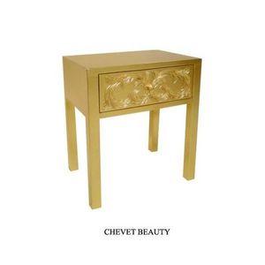DECO PRIVE - chevet baroque en bois dore modele beauty - Bedside Table