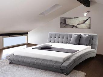 BELIANI - lit lille gris - Double Bed