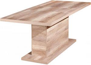 COMFORIUM - table à manger extensible en bois coloris chêne br - Rectangular Dining Table