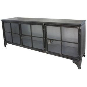 CHEMIN DE CAMPAGNE - enfilade bahut buffet meuble tele tv meuble indust - Media Unit