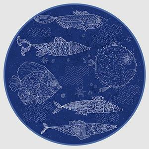Design Atelier - fische im meer - Decorative Platter