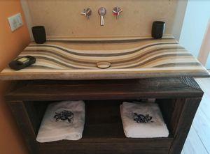 Maison Derudet - lamellé roches® - Freestanding Basin