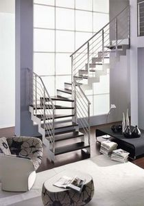NOVALINEA - laser satin - Quarter Turn Staircase