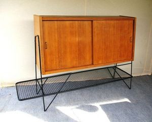 L'atelier tout metal - buffet bois et metal - Sideboard With Pull Out Shelf