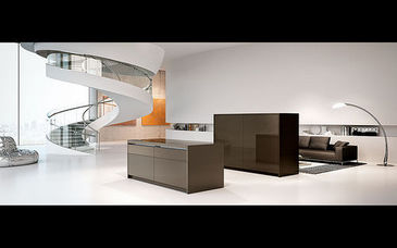 Arca - Modern Kitchen - Metal - Satin-finish stainless steel ...
