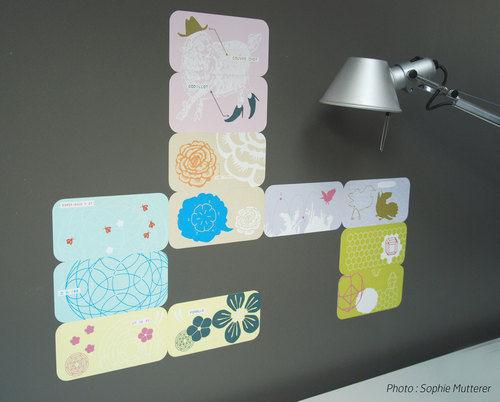 Walldesign - Sticker-Walldesign-Patch'n Box #CK1 - coffret de 12 pièces