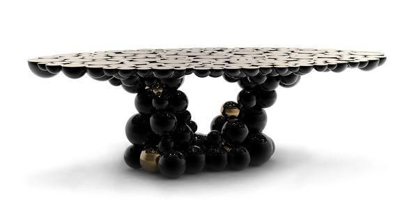 BOCA DO LOBO - Oval dining table-BOCA DO LOBO-Newton