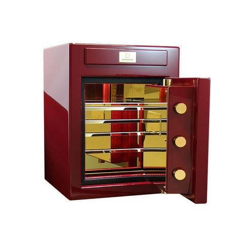 STOCKINGER BESPOKE SAFES - Safe-STOCKINGER BESPOKE SAFES-Stockinger safe CUBE wine red