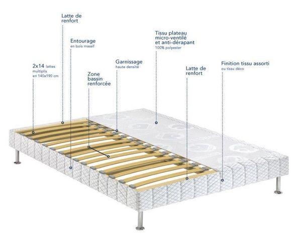 Bultex - Fixed sprung base-Bultex-BULTEX Sommier double tapissier confort médium  3