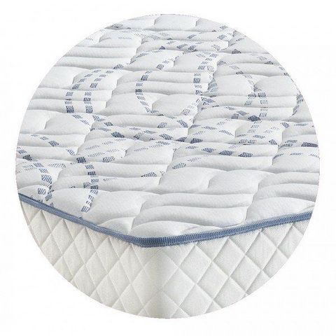 WHITE LABEL - Spring mattress-WHITE LABEL-Matelas MEKY MERINOS longueur couchage 200cm épais