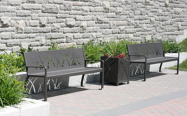 Maglin Site Furniture - Town bench-Maglin Site Furniture-970 Backed Bench