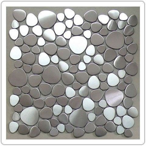 TOOSHOPPING - Mosaic tile wall-TOOSHOPPING-Crédence Carrelage inox Mosaique Inox Océan