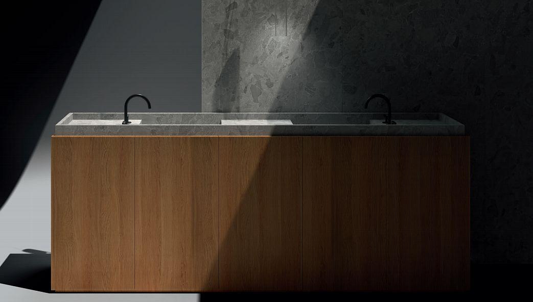 LIVING CERAMICS Doppelwaschtisch Möbel Badezimmermöbel Bad Sanitär  |