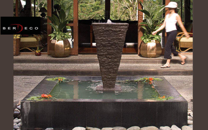 BERDECO Springbrunnen Brunnen  Blumenkasten & Töpfe Terrasse   Design Modern