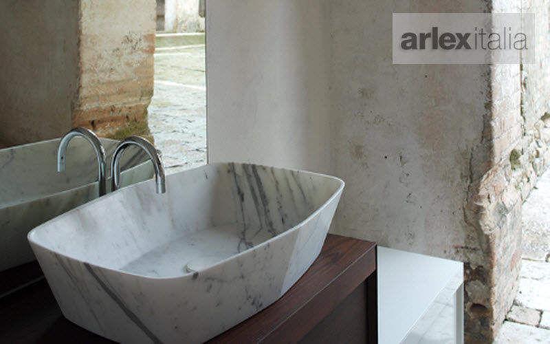 Arlexitalia Waschbecken freistehend Waschbecken Bad Sanitär Badezimmer   Design Modern