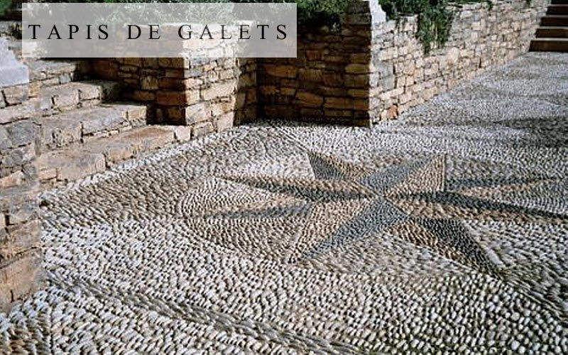 les tapis de galets Kopfsteinpflaster Bodenbeläge Böden  |
