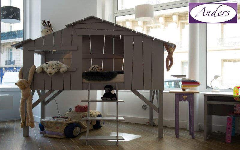 Anders-Paris Hütte Bett für Kinder Kinderzimmer Kinderecke  |