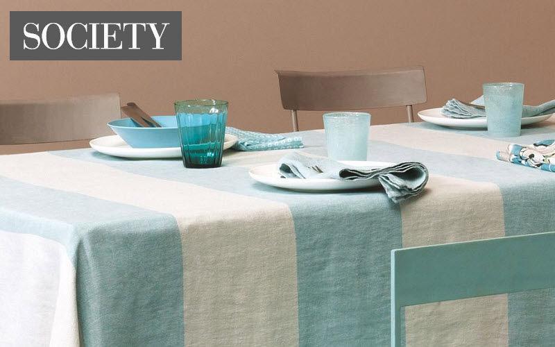 SOCIETY Rechteckige Tischdecke Tischdecken Tischwäsche  |