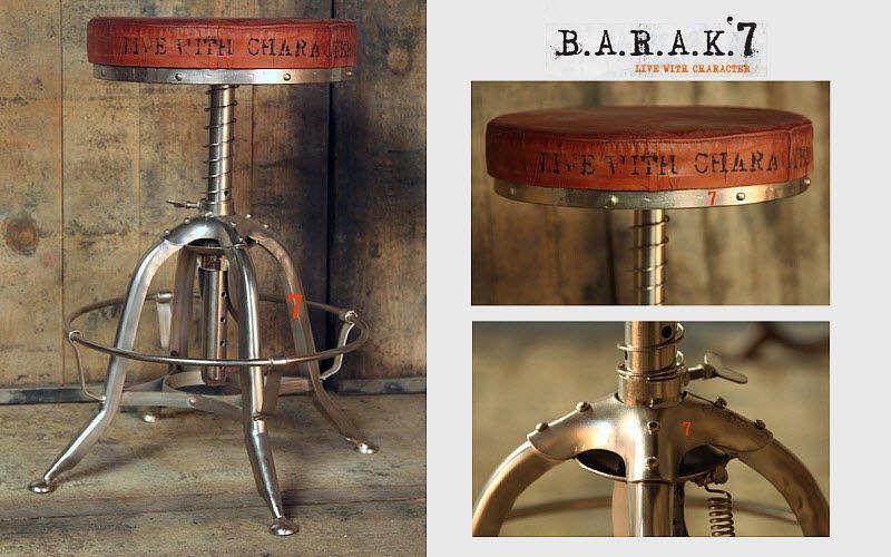 BARAK 7 Verstellbarer Barhocker Schemel und Beinauflage Sitze & Sofas  |