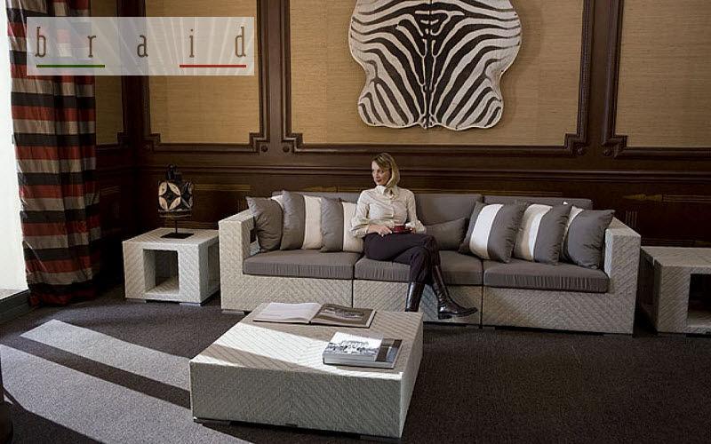 BRAID Wohnzimmersitzgarnitur Couchgarnituren Sitze & Sofas Wohnzimmer-Bar | Exotisch