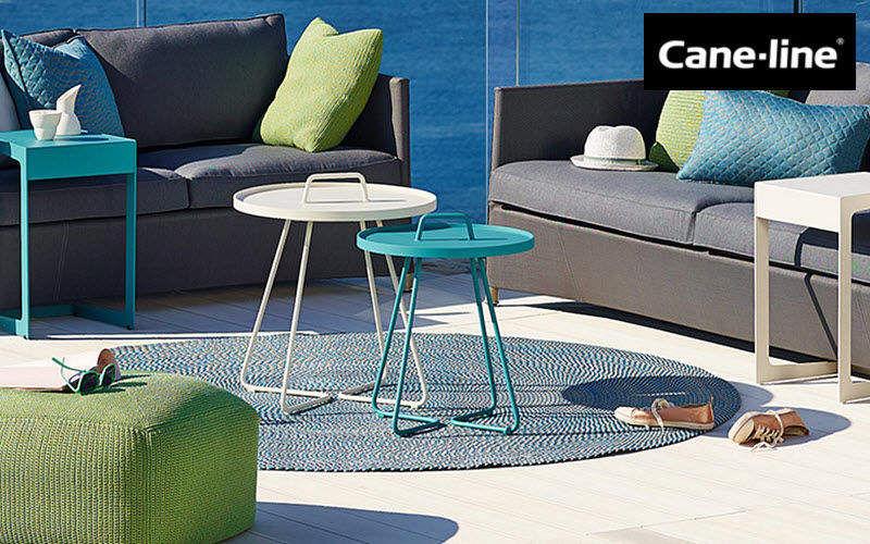CANE-LINE Runder Beistelltisch Gartentische Gartenmöbel  |