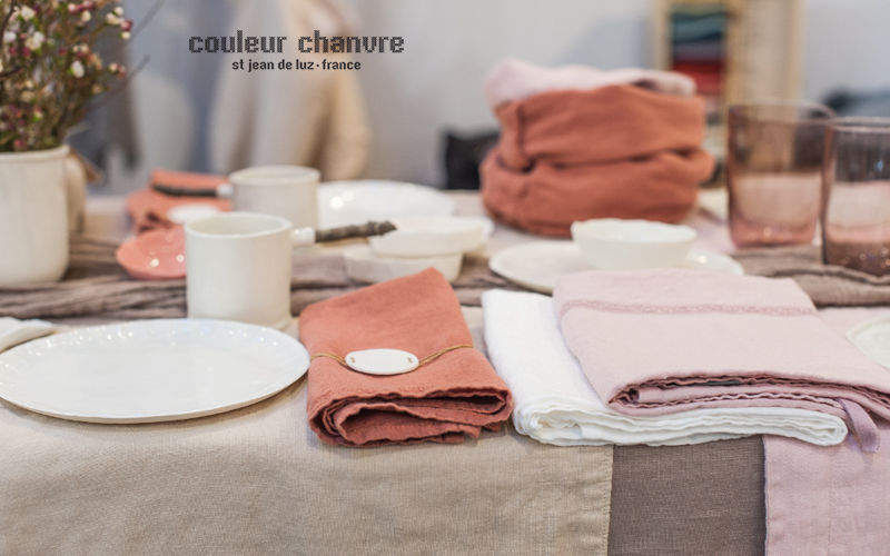 Couleur Chanvre Tisch Serviette Servietten Tischwäsche  |
