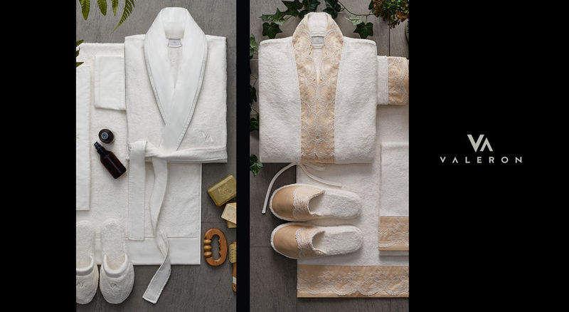 VALERON Bademantel für Frauen Badwäsche Haushaltswäsche  |