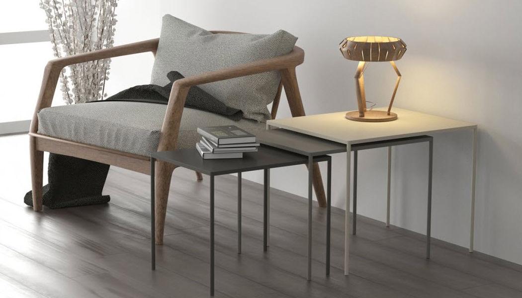 CRUZ CUENCA Tischsatz Beistelltisch Tisch Wohnzimmer-Bar | Design Modern