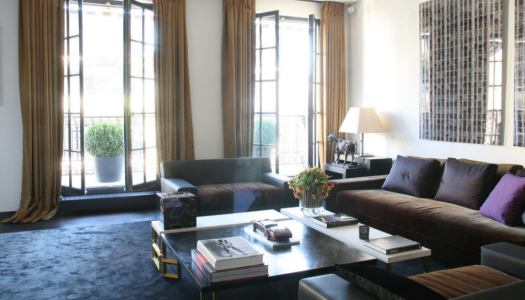 Arnauld de Petitville Innenarchitektenprojekt Innenarchitektenprojekte Häuser Wohnzimmer-Bar | Design Modern