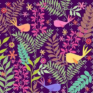 Design Atelier - vögel und blätter - Geschenkpapier