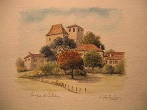 Moulin De Larroque Aquarellpapier