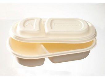 Adiserve - barquette lunch-box canne à sucre (25 pces) - Einweggeschirr