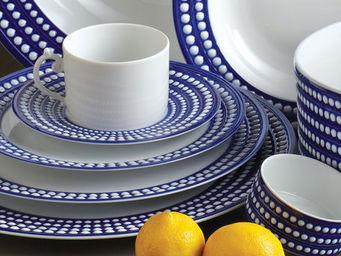 L'OBJET - perlée bleu dinnerware - Flache Teller