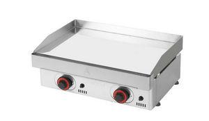 Mainho - plancha à gaz mainho en acier chromé 60x45x20cm - Grill Plate