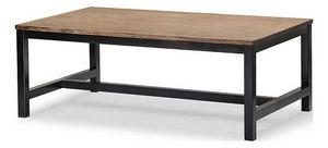 INWOOD - table basse rectangulaire iron en acacia brossé et - Gartenkonsole