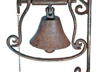 Esschert Design - cloche de porte oiseau en fonte 8,5x20,5x33,5cm - Außenglocke