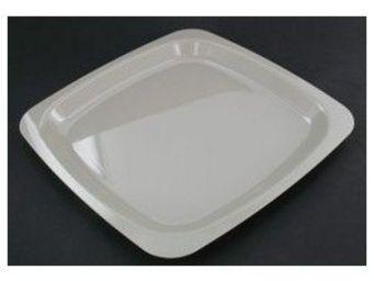 Adiserve - assiette carrée grise 18 ou 23 cm par 20 dimension - Einweggeschirr