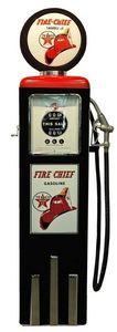 US Connection - pompe à essence texaco fire chief noir/rouge - Statue