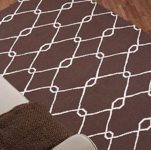 JILL ROSENWALD - chain : dark chocolate - Moderner Teppich